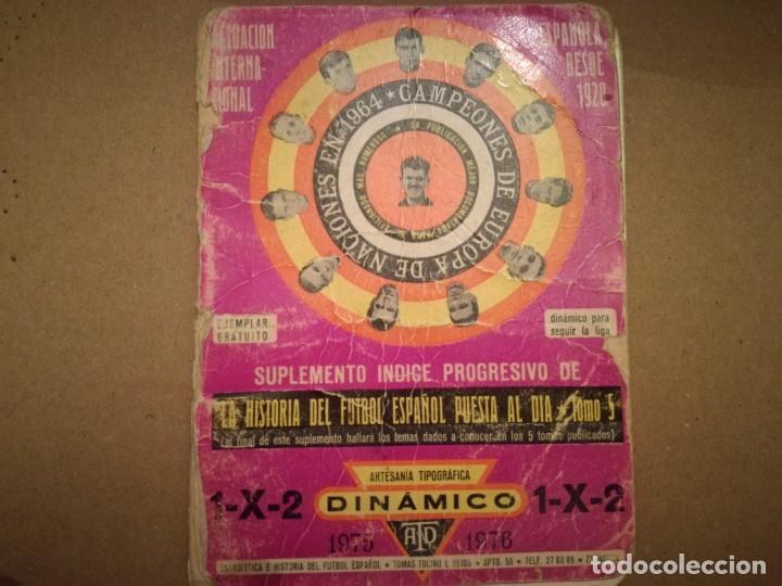 DINAMICO 1975/76 (Coleccionismo Deportivo - Documentos de Deportes - Calendarios)