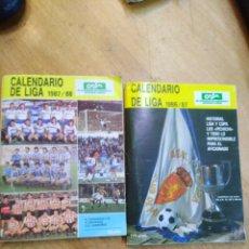 Coleccionismo deportivo: 2 CALENDARIO LIGA 1986-1987 Y 1987-1988. Lote 161265785