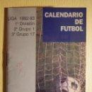 Coleccionismo deportivo: CALENDARIO DINÁMICO - PRIMERA, SEGUNDA Y TERCERA DIVISIÓN FUTBOL LIGA 1992-93 - CCM - C/ RESULTADOS. Lote 161306854