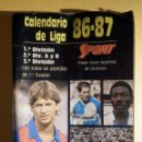 Coleccionismo deportivo: CALENDARIO DINÁMICO - PRIMERA Y SEGUNDA DIVISIÓN FUTBOL LIGA 1986-87 - SPORT - C/ RESULTADOS. Lote 161307262