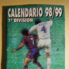 Coleccionismo deportivo: CALENDARIO ESTADISTICO DINÁMICO - PRIMERA DIVISIÓN FUTBOL LIGA 1998-99 - DON BALÓN - C/ RESULTADOS. Lote 161307342