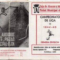 Coleccionismo deportivo: CALENDARIO 1944,CAJA DE AHORROS Y MONTE DE PIEDAD MUNICIPAL DE GIJÓN. Lote 161626882