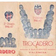 Coleccionismo deportivo: CALENDARIO 1946,BAR DEPORTIVO TROCADERO VALENCIA. Lote 161630082