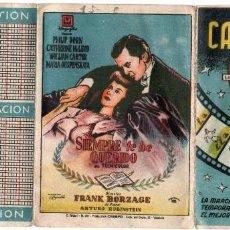 Coleccionismo deportivo: CALENDARIO 1949, PUBLICIDAD DE CINE. Lote 161639790