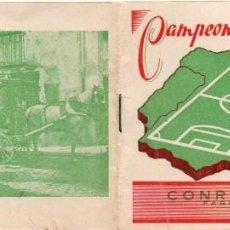 Coleccionismo deportivo: CALENDARIO 1950, OBSEQUIO DE CONRADO ABELLAN, DE MURCIA. Lote 161760886