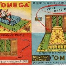 Coleccionismo deportivo: CALENDARIO 1954, MUEBLES CAMA, OMEGA. Lote 161994602