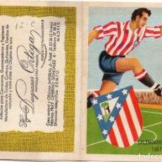Coleccionismo deportivo: CALENDARIO DE LIGA 1957, ALMACÉN DE TEJIDOS,HIJOS DE DESGRACIA ORTEGA MADRID. Lote 162142146