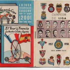 Coleccionismo deportivo: CALENDARIO DE LIGA 1957, DE DINÁMICO, . Lote 162148910