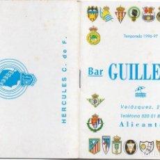 Coleccionismo deportivo: CALENDARIO 1996,BAR GUILLERMO ALICANTE,34 PAGINAS. Lote 162351226