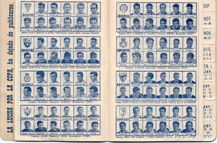 Coleccionismo deportivo: CALENDARIO DINAMICO 1960, - Foto 6 - 162557494