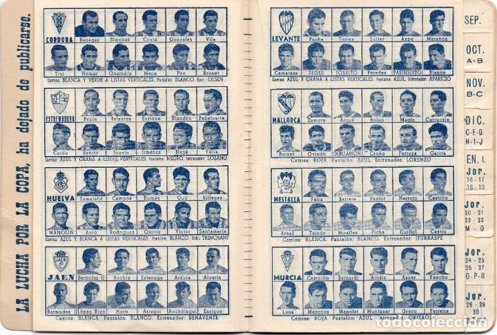 Coleccionismo deportivo: CALENDARIO DINAMICO 1960, - Foto 8 - 162557494