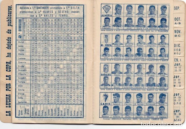 Coleccionismo deportivo: CALENDARIO DINAMICO 1960, - Foto 7 - 162557494