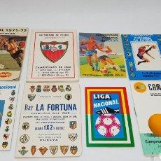 Coleccionismo deportivo: LOTE CALENDARIOS FUTBOL LIGA 71 72 75 76 ETC VER FOTOS IMEDIO CAM NOCILLA CAJA AHORROS MEDITERRANEO. Lote 162821762