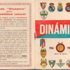 Coleccionismo deportivo: CALENDARIO DINAMICO, PARA EL 1966, CON FOTOS DE LOS 16 EQUIPOS. Lote 162881686