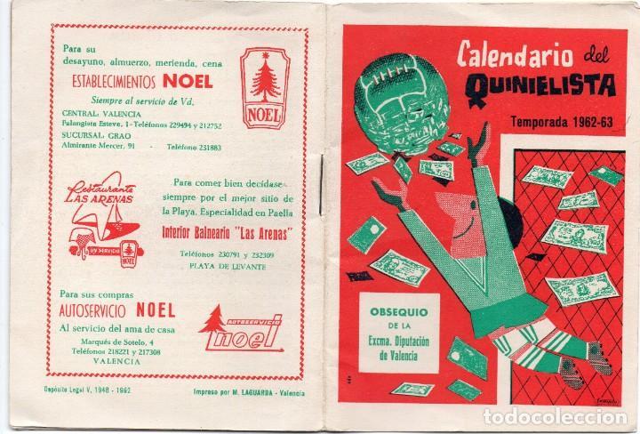 CALENDARIO DEL QUINIELISTA 1962, (Coleccionismo Deportivo - Documentos de Deportes - Calendarios)