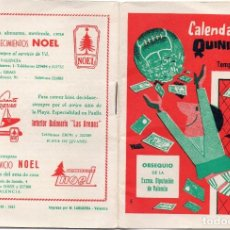 Coleccionismo deportivo: CALENDARIO DEL QUINIELISTA 1962,. Lote 163025286
