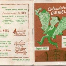 Coleccionismo deportivo: CALENDARIO DEL QUINIELISTA 1961,. Lote 163025574