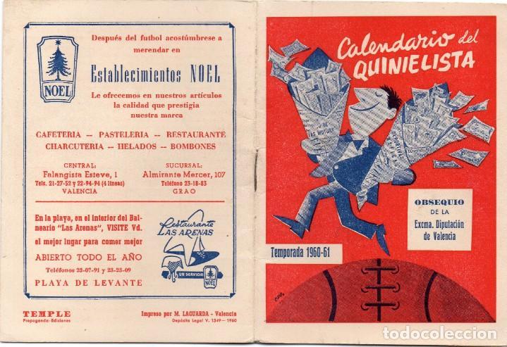 CALENDARIO DEL QUINIELISTA 1960, (Coleccionismo Deportivo - Documentos de Deportes - Calendarios)