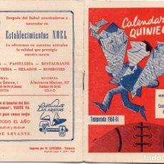 Coleccionismo deportivo: CALENDARIO DEL QUINIELISTA 1960,. Lote 163025802