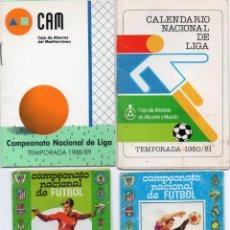 Coleccionismo deportivo: 4 CALENDARIO, TEMPORADAS 1974-1976-1980-1988,. Lote 164686230