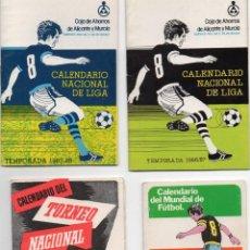 Coleccionismo deportivo: 4 CALENDARIO, TEMPORADAS, MEXICO 86- 1975 - 1986 - 1987,. Lote 164686662