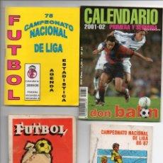 Coleccionismo deportivo: 4 CALENDARIO, TEMPORADAS 1983 - 1986 - 2001 - 2005,. Lote 164687246