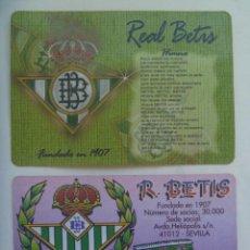 Coleccionismo deportivo: LOTE DE 2 CALENDARIOS DE BOLSILLO DE 2000 : REAL BETIS BALOMPIE. Lote 164811670