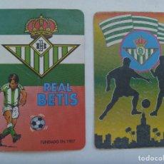 Coleccionismo deportivo: LOTE DE 2 CALENDARIOS DE BOLSILLO DE 1997 : REAL BETIS BALOMPIE. Lote 164842394