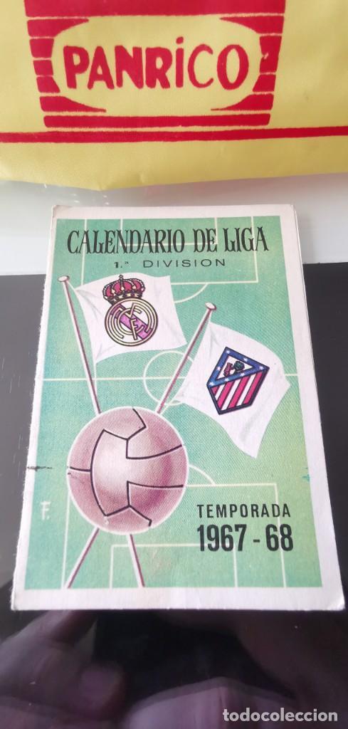 CALENDARIO FÚTBOL 1ª DIVISIÓN LIGA TEMPORADA 1967 1968 (Coleccionismo Deportivo - Documentos de Deportes - Calendarios)