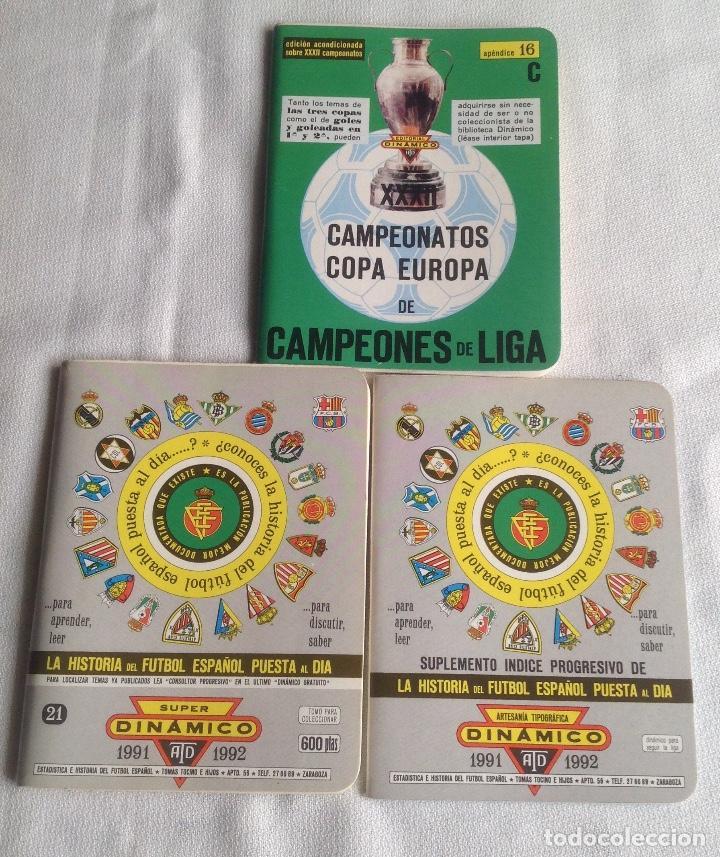 LOTE DINÁMICO APÉNDICE 16 COPA EUROPA DE CAMPEONES LIGA Y LIGA 1991-1992 CON SUPLEMENTO (Coleccionismo Deportivo - Documentos de Deportes - Calendarios)