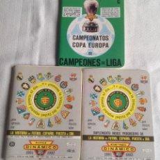 Coleccionismo deportivo: LOTE DINÁMICO APÉNDICE 16 COPA EUROPA DE CAMPEONES LIGA Y LIGA 1991-1992 CON SUPLEMENTO. Lote 165252234