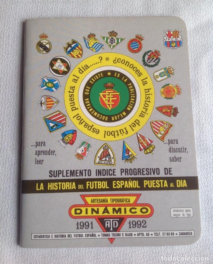 Coleccionismo deportivo: LOTE DINÁMICO APÉNDICE 16 COPA EUROPA DE CAMPEONES LIGA Y LIGA 1991-1992 CON SUPLEMENTO - Foto 4 - 165252234