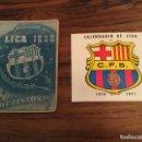 Coleccionismo deportivo: CALENDARIO BARCELONA CLUB FUTBOL 1949 1950 Y 1970 1971. BARÇA. Lote 165420738