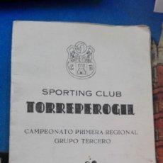 Coleccionismo deportivo: SPORTING CLUB TOPRREPEROGIL CALENDARIO 1979-80. Lote 167505280
