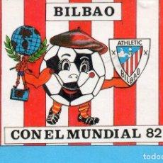 Coleccionismo deportivo: CALENDARIO DE MUNDIAL FUTBOL BILBAO 1982 PUBLICIDAD DE PAPELERÍA BADALONA. Lote 169302368