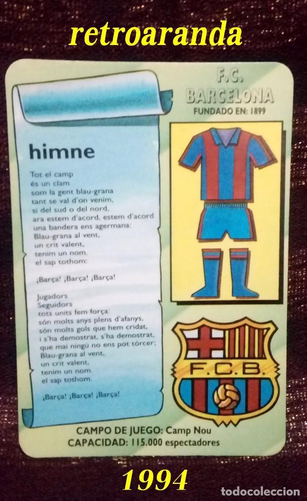Futbol Calendario.Calendario Tematica Deportes Futbol F C Barcelona Ano 1994