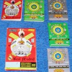 Coleccionismo deportivo: SUPER DINAMICO COPA DE EUROPA PROEZA REAL MADRID LOTE 5 CALENDARIOS FUTBOL CAJA ORIGINAL COMPLETA !!. Lote 171797193