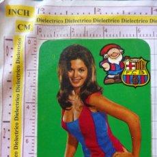 Coleccionismo deportivo: CALENDARIO DE BOLSILLO. AÑO 1977. FÚTBOL CLUB BARCELONA. MUJER . Lote 172607533