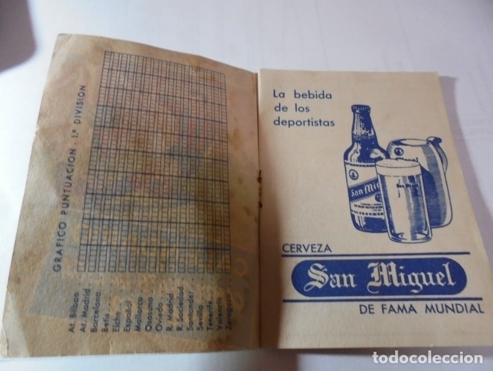 Coleccionismo deportivo: magnifico antiguo calendario del campeonato de liga 1961-62 - Foto 2 - 172966557
