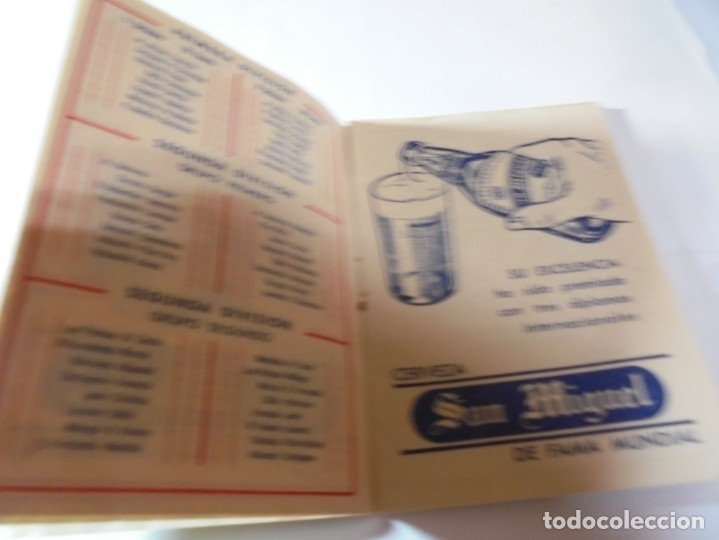 Coleccionismo deportivo: magnifico antiguo calendario del campeonato de liga 1961-62 - Foto 4 - 172966557