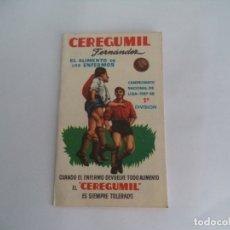 Coleccionismo deportivo: CALENDARIO DEPORTIVO.TEMPORADA 1957-58.PUBLICIDAD CEREGUMIL. Lote 173164114
