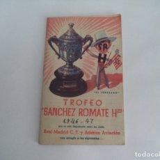 Coleccionismo deportivo: CALENDARIO DEPORTIVO.TEMPORADA 1946-47.PUBLICIDAD . Lote 173165143