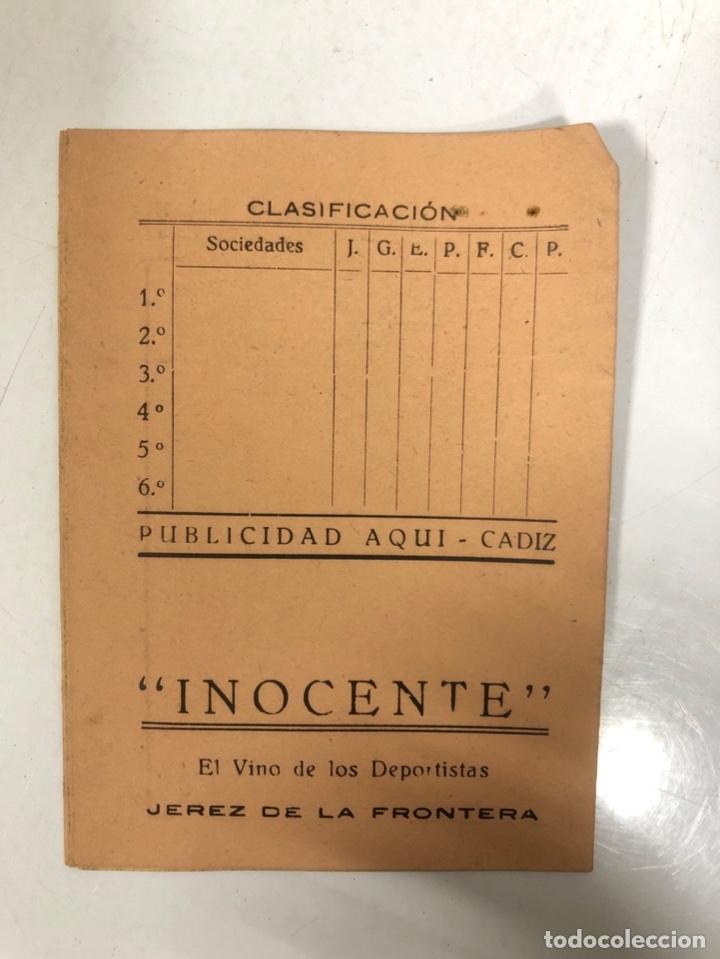 Coleccionismo deportivo: TORNEO DE CLASIFICACION. 1ª FASE DE LA COPA DE S.E. EL JEFE DEL ESTADO. TEMPORADA 1941-1942. CADIZ. - Foto 2 - 173634744