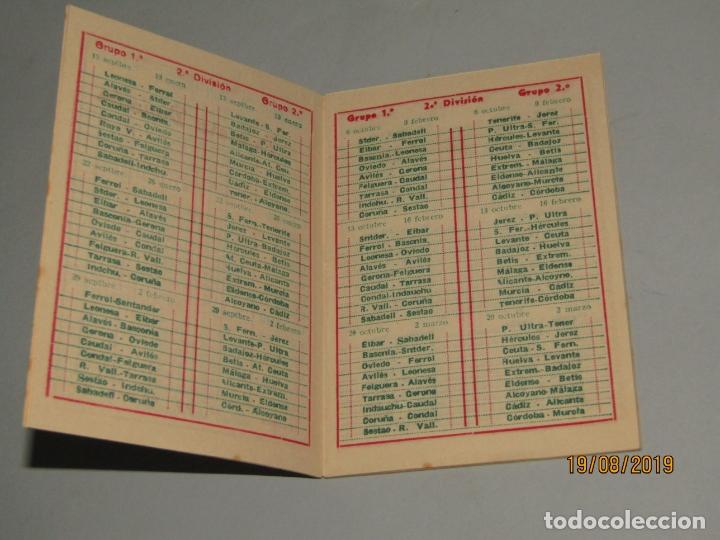 Coleccionismo deportivo: Antiguo Calendario Campeonato Nacional de Liga del Año 1957-58 con Todos los Equipos Valencianos - Foto 2 - 174210844