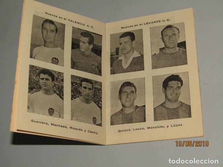Coleccionismo deportivo: Antiguo Calendario Campeonato Nacional de Liga del Año 1957-58 con Todos los Equipos Valencianos - Foto 3 - 174210844