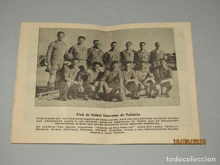 Coleccionismo deportivo: Antiguo Calendario Campeonato Nacional de Liga del Año 1957-58 con Todos los Equipos Valencianos - Foto 4 - 174210844