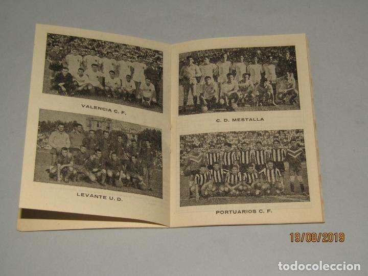 Coleccionismo deportivo: Antiguo Calendario Campeonato Nacional de Liga del Año 1957-58 con Todos los Equipos Valencianos - Foto 5 - 174210844