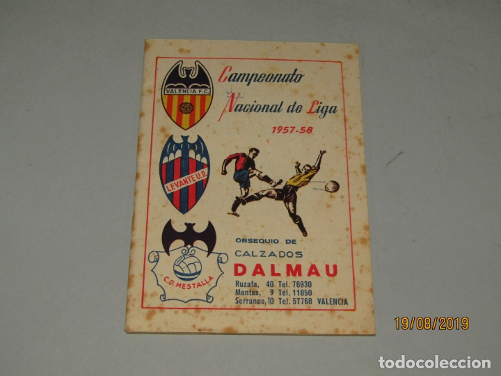 Coleccionismo deportivo: Antiguo Calendario Campeonato Nacional de Liga del Año 1957-58 con Todos los Equipos Valencianos - Foto 7 - 174210844