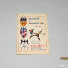 Coleccionismo deportivo: ANTIGUO CALENDARIO CAMPEONATO NACIONAL DE LIGA DEL AÑO 1957-58 CON TODOS LOS EQUIPOS VALENCIANOS. Lote 174210844
