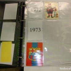 Coleccionismo deportivo: LOTE DE 180 CALENDARIOS DE BOLSILLO DE F C BARCELONA 1972 A 1999 VER FOTOS DE TODOS. Lote 174330704